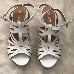 White Guess Heels!